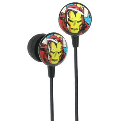 Marvel Comics Retro Earphones - Iron Man
