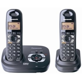 KX-TG4322B 5.8 GHz Expandable Digital Cordless Phone with 2 Handsets