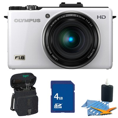 XZ-1 10MP f1.8 Lens Digital Camera White 4GB Kit