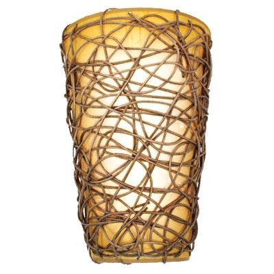 EL Wicker Indr LED Wall Sconce