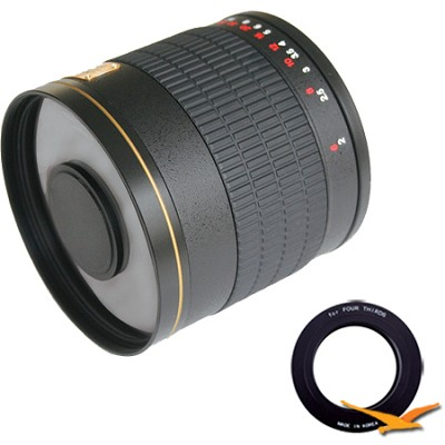800mm F8.0 Mirror Lens for Olympus Micro 4/3 (Black Body) - 800M-B