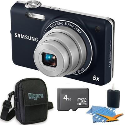 ST65 14.2 MP Indigo Blue Compact Digital Camera 4 GB Bundle