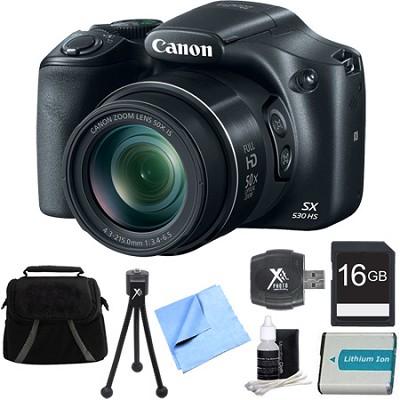 PowerShot SX530 HS 16MP 50x Opt Zoom Full HD Digital Camera Bundle with 1150mah