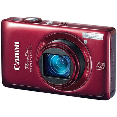 PowerShot ELPH 510 HS Red Digital Camera w/ 3.2 inch Touch Screen