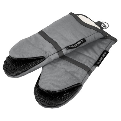 2 pack Cotton Puppet Oven Mitt with Silicone Grip - Grey