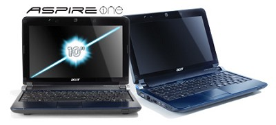 Aspire one 10.1` Netbook PC - Blue (AOD250-1955)