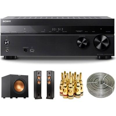 7.2 Channel 145W 4K Home Theater AV Receiver w/ Klipsch Subwoofer & Speakers