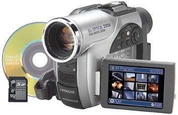 DZ-MV750MA DVD Camcorder DVD-RAM/DVD-R SD/MMC, 16x Optical