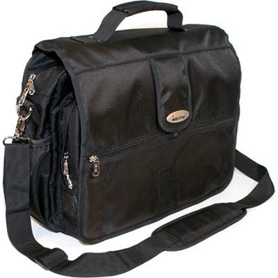 Built-in Alarm Laptop Messenger Bag - Black