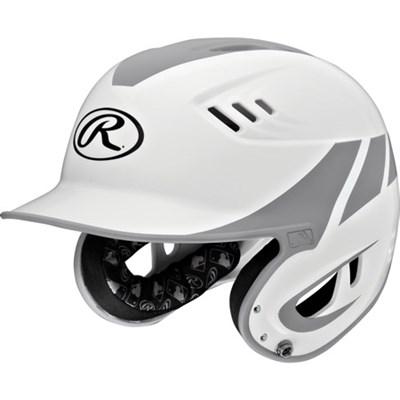Velo Two-Tone Junior Home Batting Helmet - White/Silver