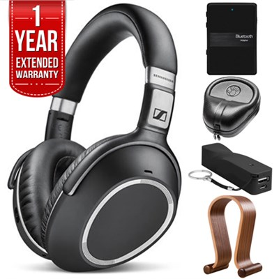 Wireless Noise Cancellation Bluetooth Headphones with Warranty Bundle