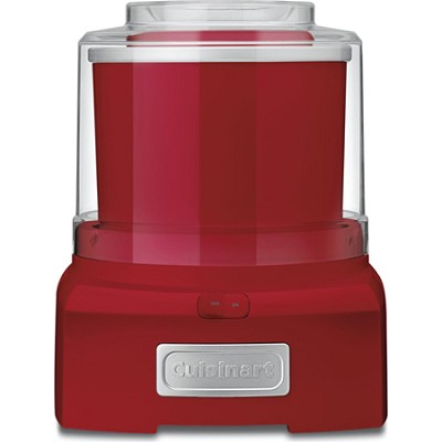 ICE-21R Frozen Yogurt-Ice Cream & Sorbet Maker, Red - Factory Refurbished