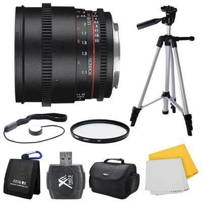 DS 85mm T1.5 Full Frame Cine Lens for Sony E Mount Bundle