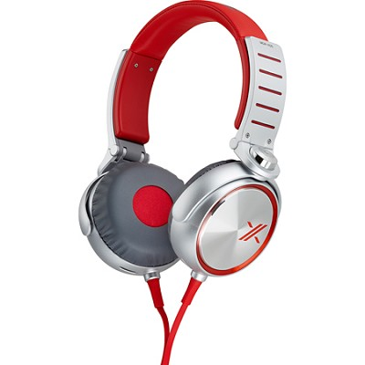 MDRX05/RS X Headphone, Red/Silver