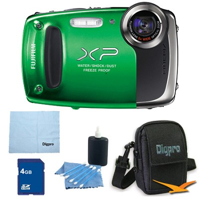 Finepix XP50 14MP CMOS Digital Camera 4 GB Bundle (Green)
