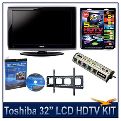 32C100U 32` 720p LCD HDTV + Flat Mount, Hook-Up, Power Protection, & Calibration