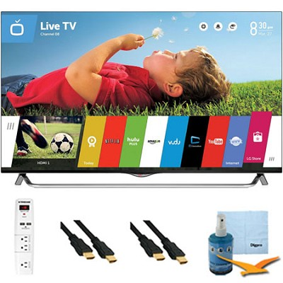 55 Inch 4K Ultra HD 120Hz 3D Smart LED TV Plus Hook-Up Bundle (55UB8500)