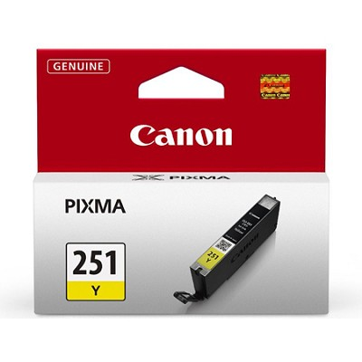 CLI-251 Yellow Ink Tank for PIXMA iP7220, MG5420, MG6320 Printers