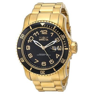 Men's Pro Diver 48.8mm Stainless Steel Gold Black Dial PC32 Quartz 15346