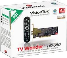 TV WONDER HD 650 PCI DUAL TUNER
