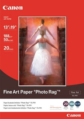 Fine Art Paper Photo Rag, 13 x 19 Inches, 20 Sheets (0587B009)