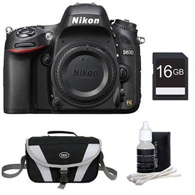 D610 FX-format 24.3 MP 1080p video Digital SLR Camera Body Only Kit