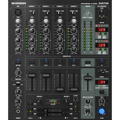 Pro Mixer Professional 5-Channel DJ Mixer with Advanced Digital Effects