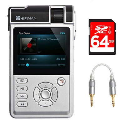 High-Fidelity Portable Music Player w/ Balanced Amp Cards + 64GB Bundle
