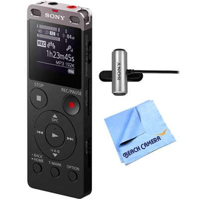 Digital Voice Recorder Ux560BLK with Stereo Microphone + Micro Fiber Cloth