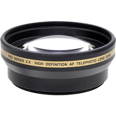 52mm High Definition Pro 2x Telephoto Conversion Lens (Black)