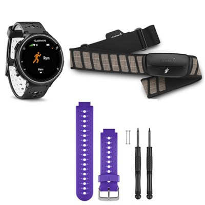 Forerunner 230 GPS Running Watch with Heart Rate Monitor - Purple Band Bundle
