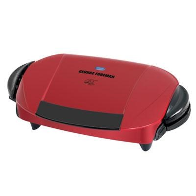 5-Serving Removable Plate Electric Indoor Grill and Panini Press, Red, GRP0004R