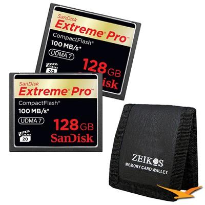 128GB Extreme Pro CompactFlash Double Card Bundle