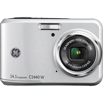 C1440W-SL 14MP 4X 2.7` LCD HD 720p Silver Digital Camera with Image Stabilizatio