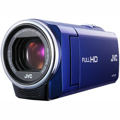 GZ-E10AUS - HD Everio  40x Zoom f1.8  (Blue) - Refurbished w/ 90 Day Warranty