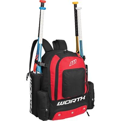 Comrade Baseball Equipment Sport Backpack - Scarlet