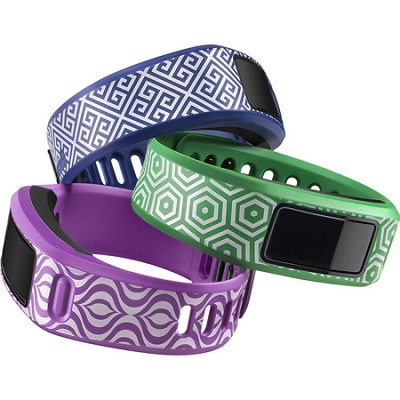 Vivofit 2 Fitness Band Bundle Jonathan Adler Waikiki Trio - Green/Blue/Purple