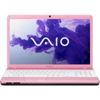 VAIO VPCEH36FX/P 15.5` Notebook PC -  Intel Core i3-2350M Processor (Pink)