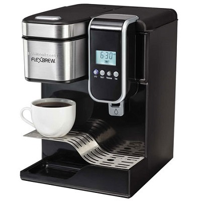 Single-Serve Coffee Maker, Programmable FlexBrew with Hot Water Dispenser