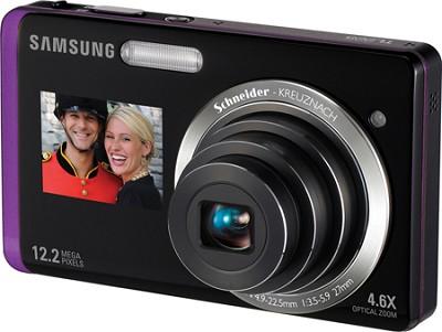 TL225 DualView 12MP 3.5 inch Touchscreen LCD Digital Camera (Purple)