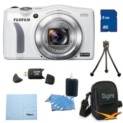 FinePix F750EXR 16MP EXR CMOS Digital Camera 8 GB Bundle(White)