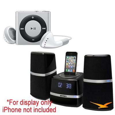 JiMS-252i Docking Station and iPod Shuffle Bundle