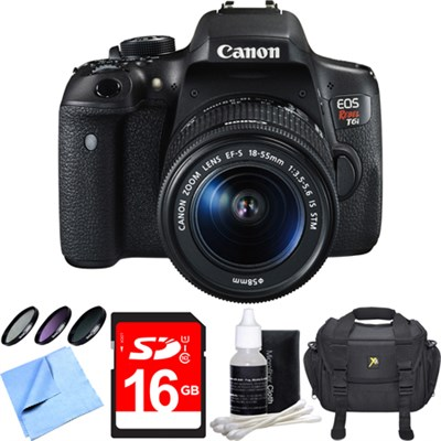 EOS Rebel T6i Digital SLR Camera with EF-S 18-55mm IS STM Lens 16GB Bundle