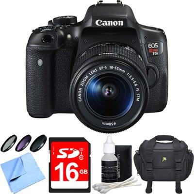 EOS Rebel T6i Digital SLR Camera with EF-S 18-55mm IS STM Lens 16GB Bundle
