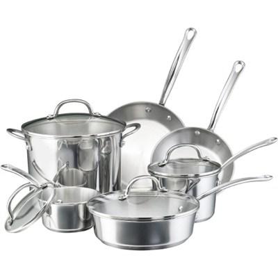 75653 Millennium Stainless Steel 10-Piece Cookware Set