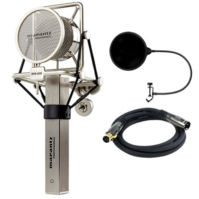 Studio Series 34mm Large Diaphragm Condenser Microphone w/Filter Bundle