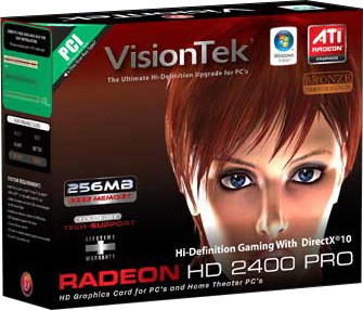 Radeon HD2400 Pro 256MB PCI VGA DV-I TV Out 900176- OPEN BOX