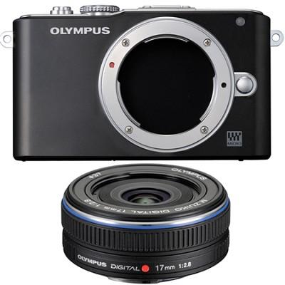 E-PL3 Black PEN Camera w/17mm F/2.8 Lens