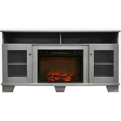 59.1 x17.7 x31.7  Savona Fireplace Mantel with Log Insert