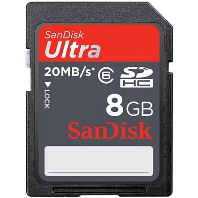 8 GB Ultra SDHC Memory Card 20MB/s (Class 6)